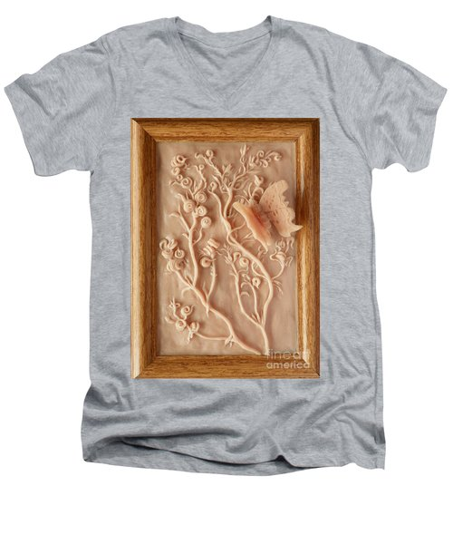 On The Way To Bronze - Alfalfa And Anglewing Men's V-Neck T-Shirt by Dawn Senior-Trask