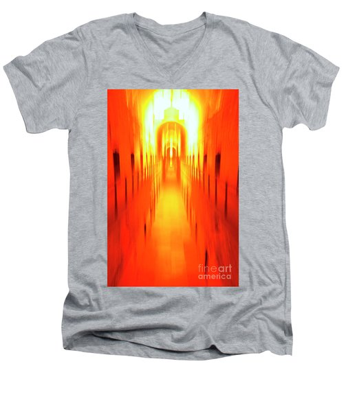 Men's V-Neck T-Shirt featuring the photograph On The Way To Death Row by Paul W Faust - Impressions of Light