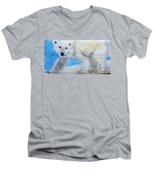 On Thin Ice Men's V-Neck T-Shirt by Ann Michelle Swadener