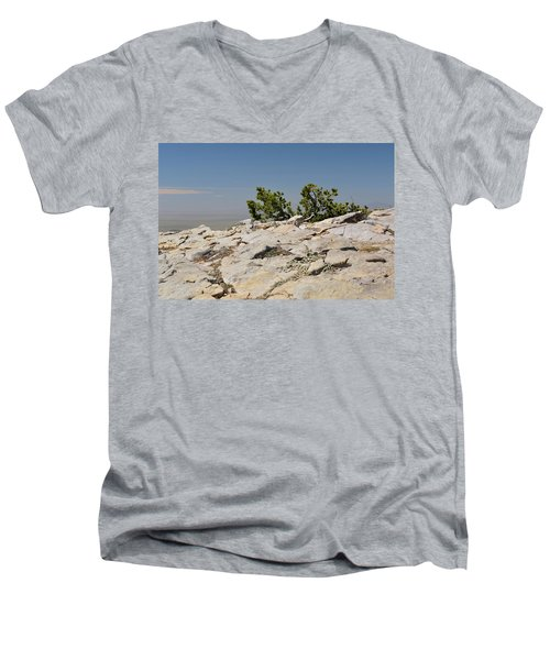 On Top Of Sandia Mountain Men's V-Neck T-Shirt