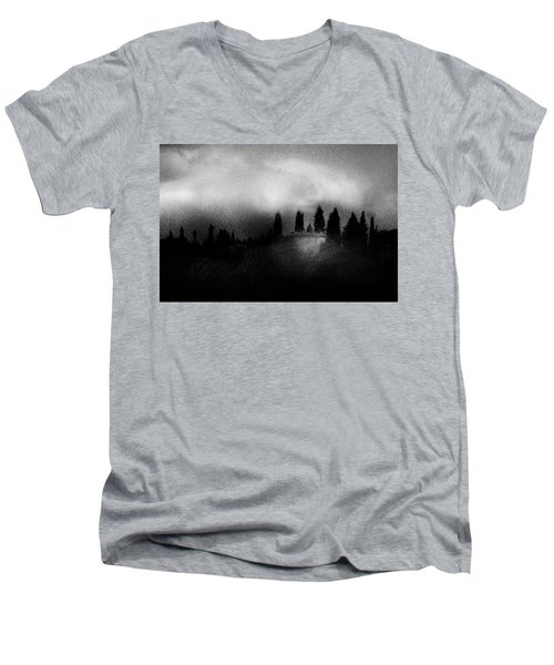 On Top Of The Hill Men's V-Neck T-Shirt