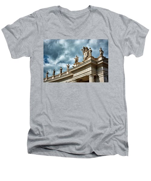 On Top Of The Tuscan Colonnades Men's V-Neck T-Shirt