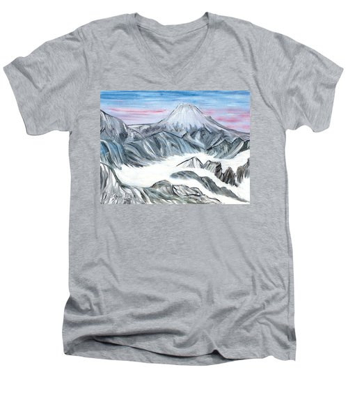 On Top Of The World Men's V-Neck T-Shirt