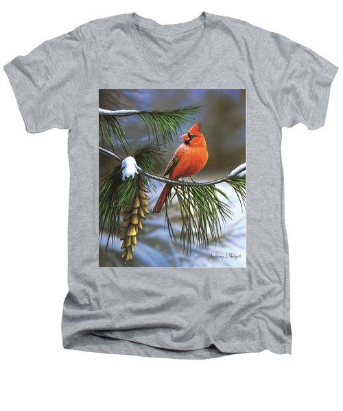 On Watch - Cardinal Men's V-Neck T-Shirt