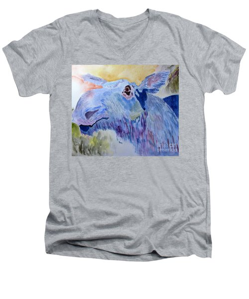 Once In A Blue Moose Men's V-Neck T-Shirt by Sandy McIntire