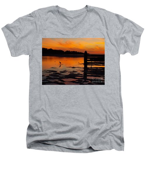One Bird Men's V-Neck T-Shirt by Trena Mara