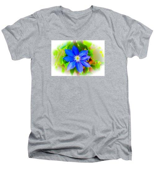 One Bloom - Pla226 Men's V-Neck T-Shirt by G L Sarti