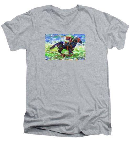 One Body Length Ahead Men's V-Neck T-Shirt