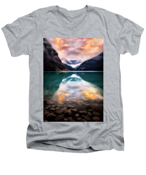 One Colorful Moment  Men's V-Neck T-Shirt by Nicki Frates