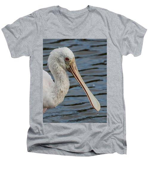 One Drop Closeup Men's V-Neck T-Shirt