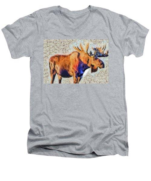 One Handsome Moose Men's V-Neck T-Shirt