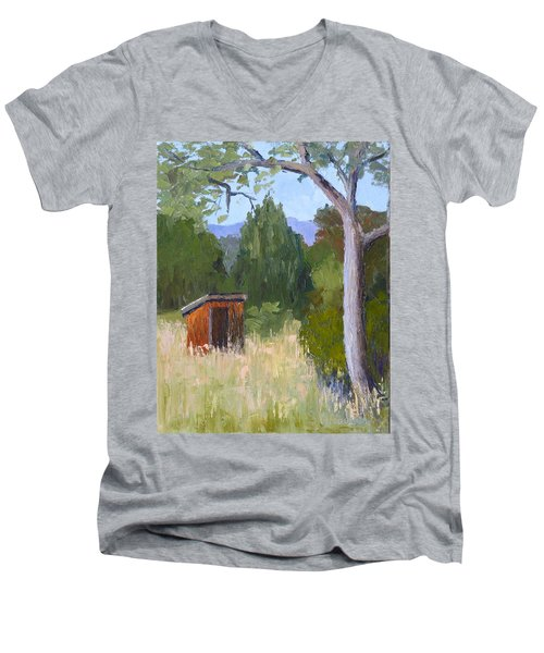 One Holer Men's V-Neck T-Shirt by Susan Woodward