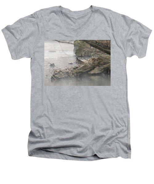 One Little Ducky Men's V-Neck T-Shirt