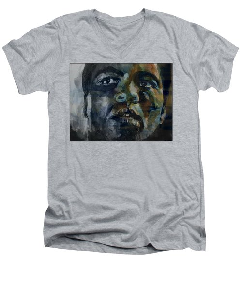 Men's V-Neck T-Shirt featuring the painting One Of A Kind  by Paul Lovering