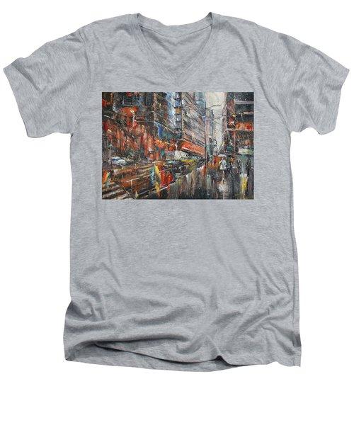 One Rainy Evening Men's V-Neck T-Shirt