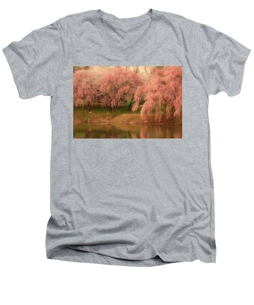 One Spring Day - Holmdel Park Men's V-Neck T-Shirt