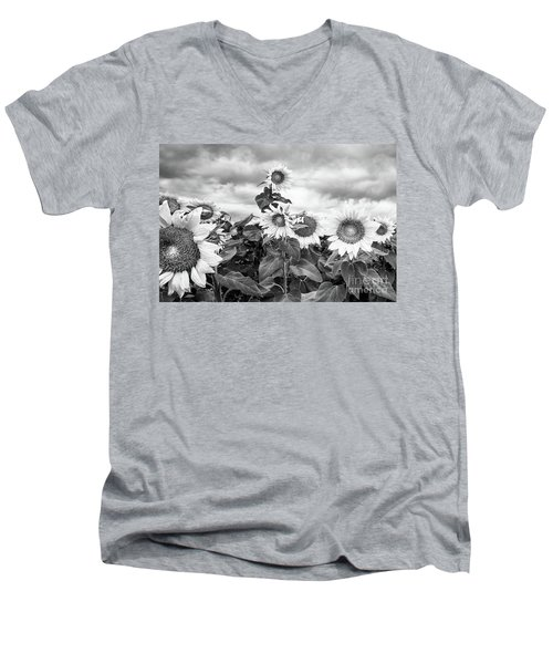 One Stands Tall Men's V-Neck T-Shirt by Jim Rossol