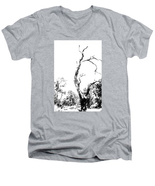 One Tree - 0192 Men's V-Neck T-Shirt