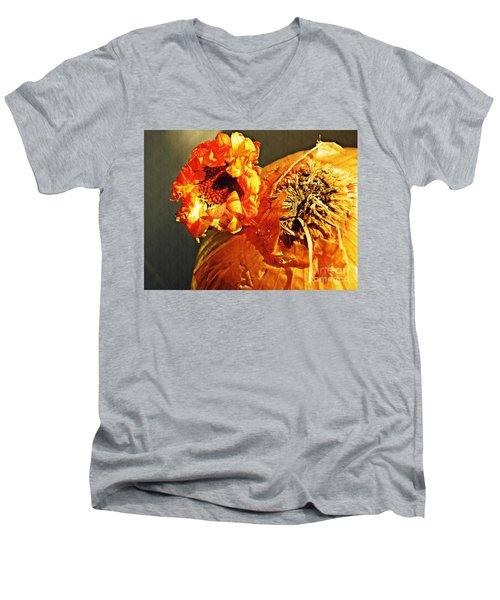 Onion And His Daisy Men's V-Neck T-Shirt by Sarah Loft