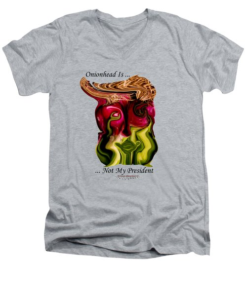 Onionhead Transparency Men's V-Neck T-Shirt