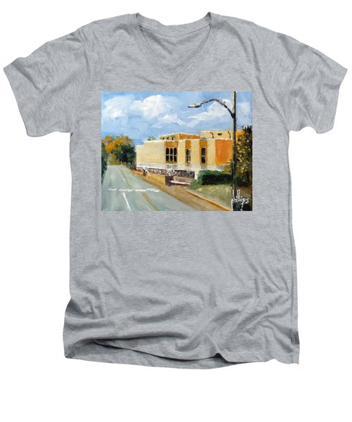Onslow New Courthouse Men's V-Neck T-Shirt by Jim Phillips