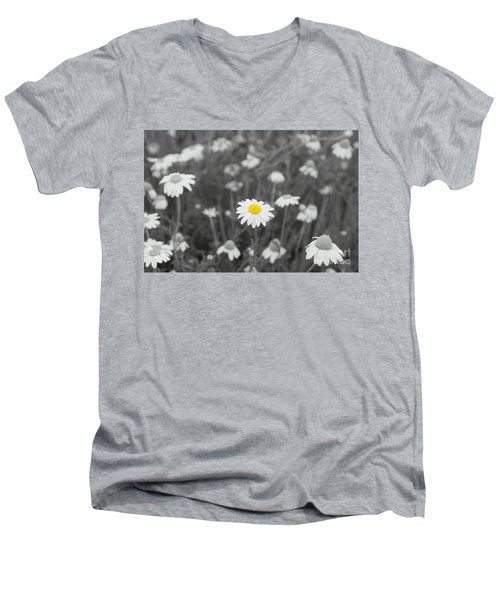 Men's V-Neck T-Shirt featuring the photograph Oopsy Daisy by Benanne Stiens