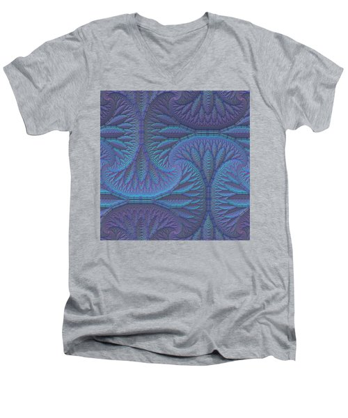 Men's V-Neck T-Shirt featuring the digital art Opalescence by Lyle Hatch