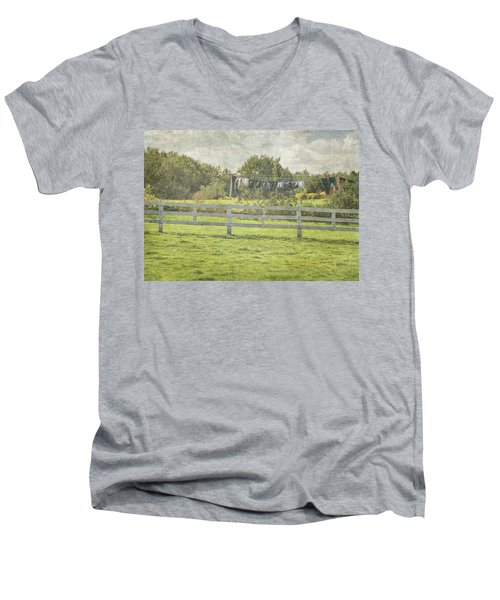 Open Air Clothes Dryer Men's V-Neck T-Shirt