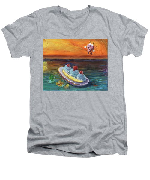 Open Heart Men's V-Neck T-Shirt