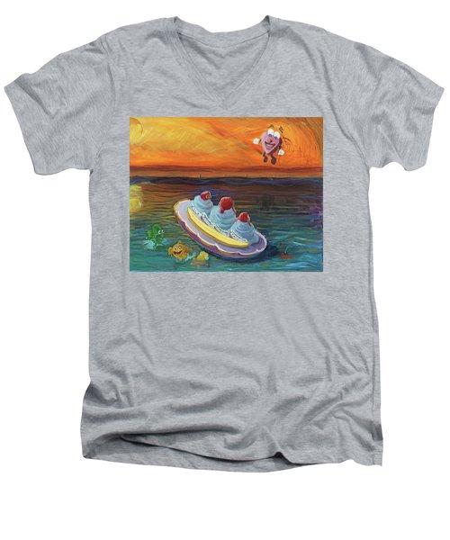 Open Heart Men's V-Neck T-Shirt