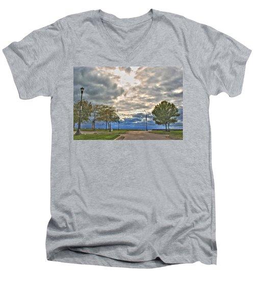 Men's V-Neck T-Shirt featuring the photograph Open Heavens  by Michael Frank Jr