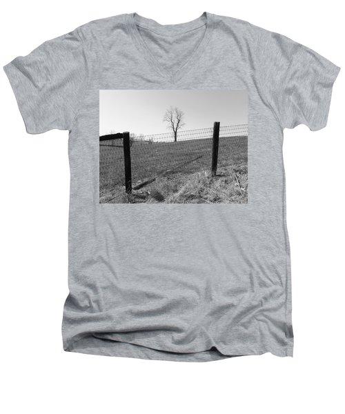 Open Land Men's V-Neck T-Shirt
