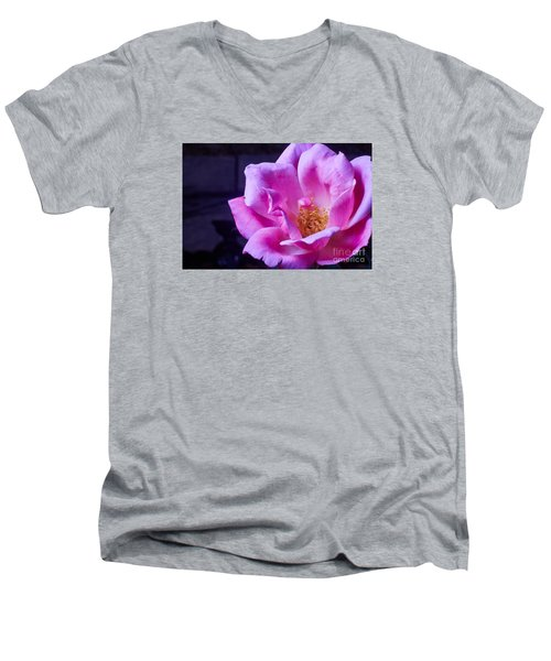 Open Rose Men's V-Neck T-Shirt