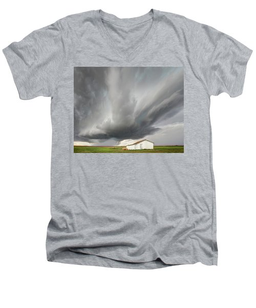 Open Spaces Men's V-Neck T-Shirt