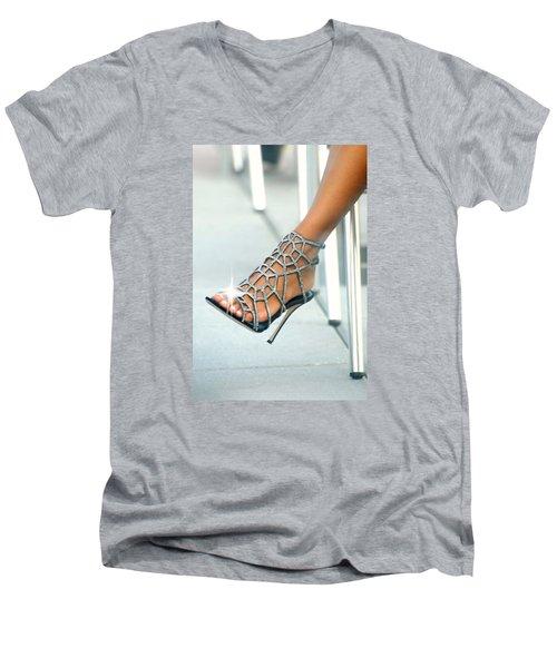 Open Toe Men's V-Neck T-Shirt by Diana Angstadt