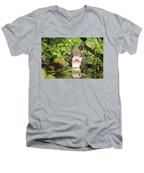 Open Wide Men's V-Neck T-Shirt