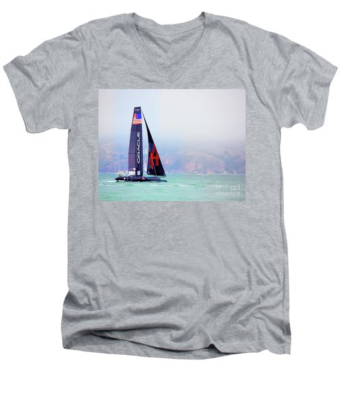 Oracles Usa  America's Cup Paint  Men's V-Neck T-Shirt