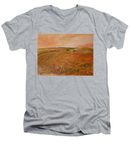 Orange Afternoon  Men's V-Neck T-Shirt