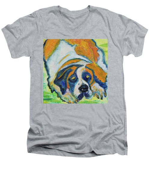 Orange Bernard Men's V-Neck T-Shirt