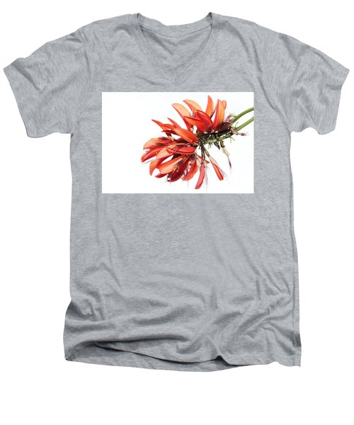 Men's V-Neck T-Shirt featuring the photograph Orange Clover I by Stephen Mitchell