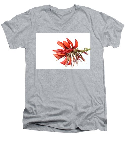 Men's V-Neck T-Shirt featuring the photograph Orange Clover IIi by Stephen Mitchell
