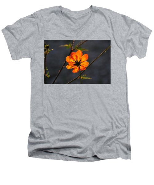 Orange Cosmo Men's V-Neck T-Shirt