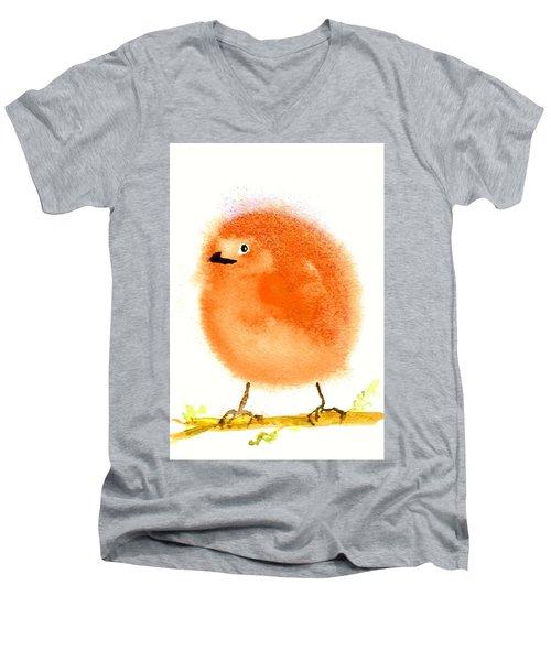 Orange Fluff Men's V-Neck T-Shirt