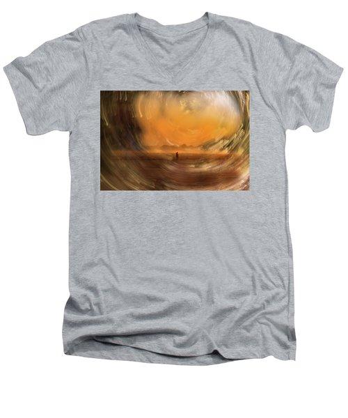 Orange Gust Men's V-Neck T-Shirt