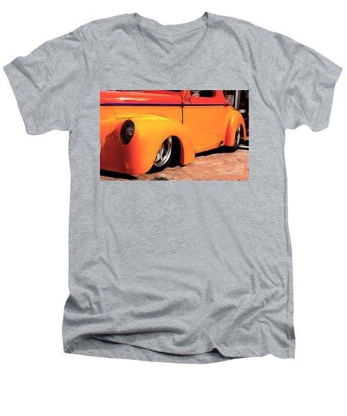 Orange Rush - 1941 Willy's Coupe Men's V-Neck T-Shirt