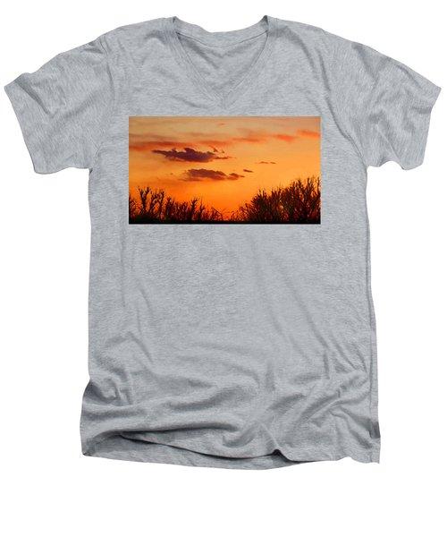 Orange Sky At Night Men's V-Neck T-Shirt