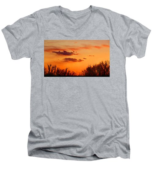 Orange Sky At Night Men's V-Neck T-Shirt