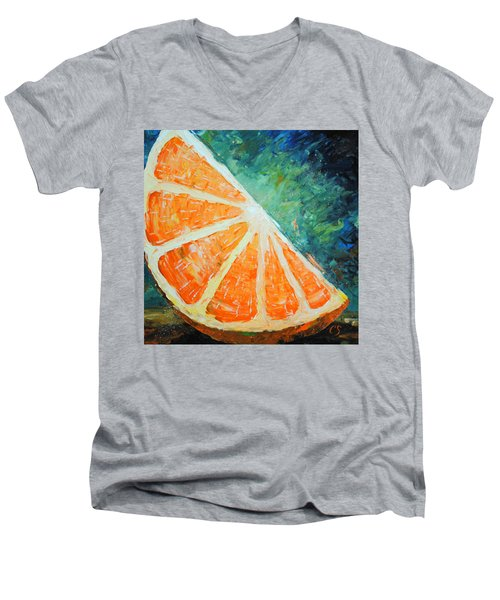 Orange Slice Men's V-Neck T-Shirt