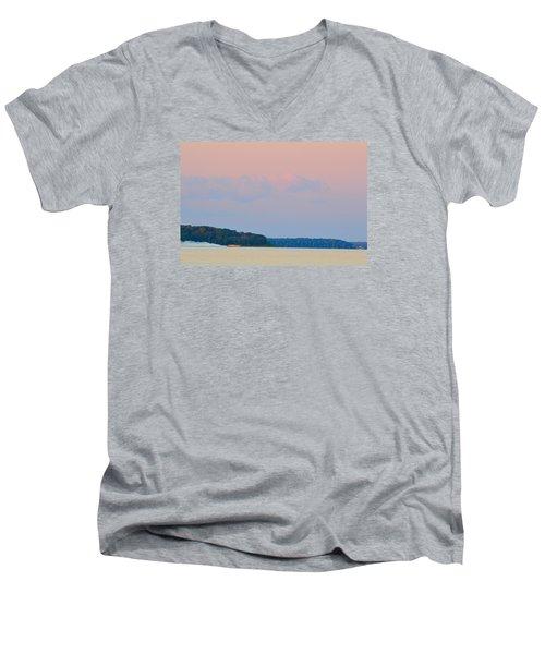 Orange Speedboat 2  Men's V-Neck T-Shirt by Lyle Crump