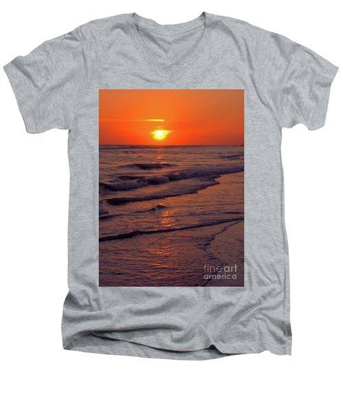 Orange Sunset Men's V-Neck T-Shirt